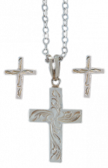 VOGT - Jewelry Set Silver Crosses