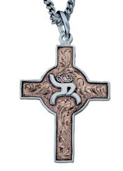 VOGT - Copper Cross w/ Silver Hooey Logo