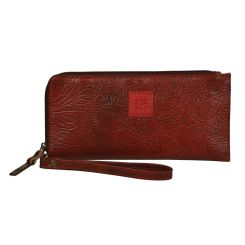 STS RANCHWEAR - Floral Clutch, Rose Red