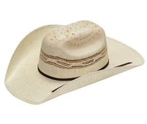 M&F - Twister Straw Kids Hat, Bangora Ivory/Tan (Straw Size: Medium)
