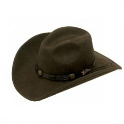 M&F - Twister Felt Kids Hat, Brown (Felt Size: Medium)