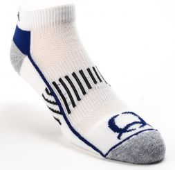 CINCH - Athletic Socks, White and Blue (Shirt Size: Medium)